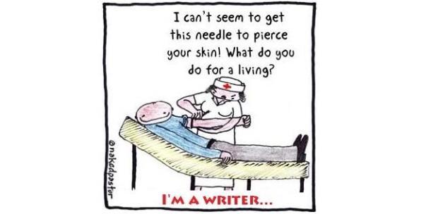 Writer with needle